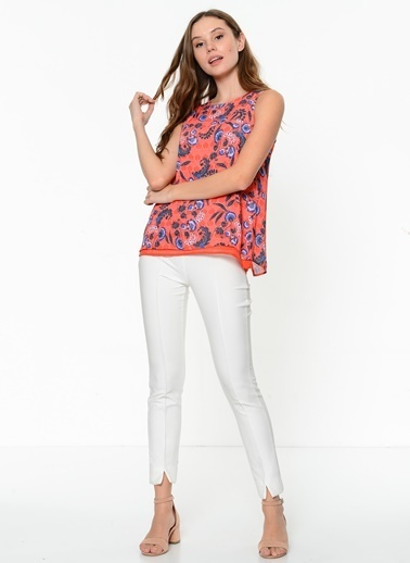 Askılı Desenli Bluz-Fashion Friends
